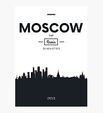 Poster city skyline Moscow Photographic Print