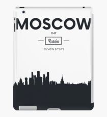 Poster city skyline Moscow iPad Case/Skin