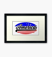 AMERICA - BUMPER STICKER Framed Print