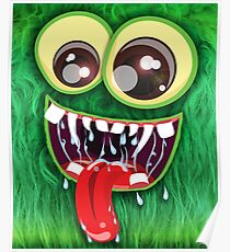 The Furry Green Monster Poster