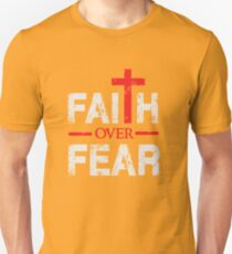 Faith over Fear - Big Cross - Christian  Unisex T-Shirt