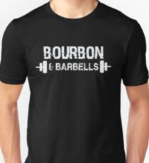 Bourbon & Barbells - Funny Drinking Gym Workout  T-Shirt