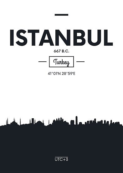Poster city skyline Istanbul by maximgertsen