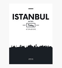 Poster city skyline Istanbul Photographic Print