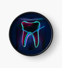 Colorful X-ray Tooth Dental Art Design Clock