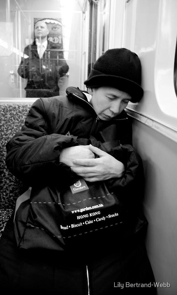 Old Woman on Train in Berlin by Lily Bertrand-Webb