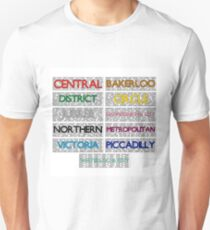 Tube Lines - All Unisex T-Shirt