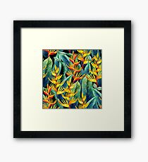 Watercolor heliconia Framed Print