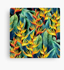 Watercolor heliconia Canvas Print
