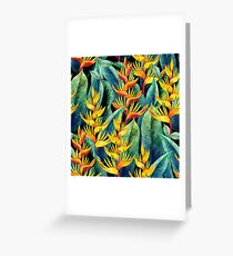 Watercolor heliconia Greeting Card