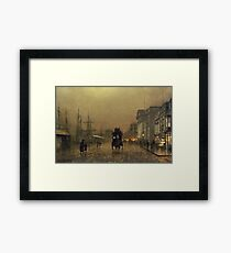 John Atkinson Grimshaw - Liverpool Docks Framed Print