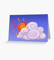 Day - Sun Cloud Greeting Card