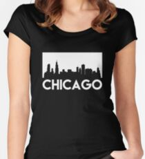 Chicago Skyline Women's Fitted Scoop T-Shirt