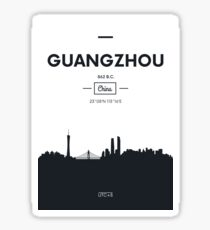 Poster city skyline Guangzhou Sticker