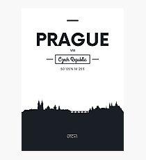 Poster city skyline Prague Photographic Print