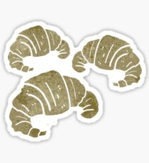 retro cartoon croissants Sticker