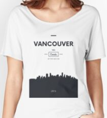 Poster city skyline Vancouver Women's Relaxed Fit T-Shirt