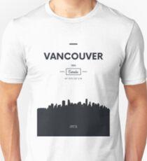Poster city skyline Vancouver T-Shirt