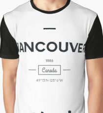Poster city skyline Vancouver Graphic T-Shirt
