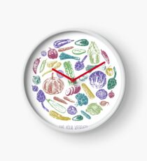 Healthy Veggies Clock