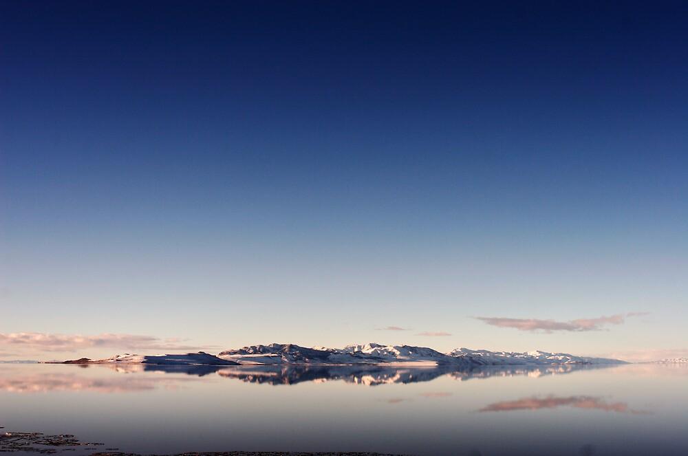 The Salt Lake in Blue by XiuyiFan