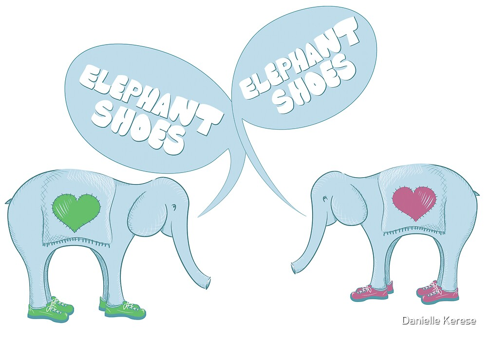 Elephant Shoes - Valentine's Day Card by Danielle Kerese