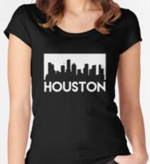 Houston Skyline Women's Fitted Scoop T-Shirt