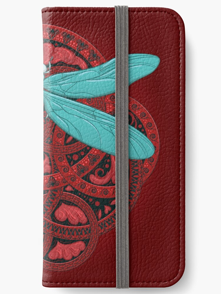 'Dragonfly Fire' iPhone Wallet by Rachel Donné
