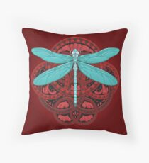 Dragonfly Fire Throw Pillow