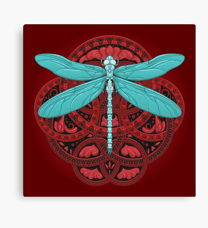 Dragonfly Fire Canvas Print