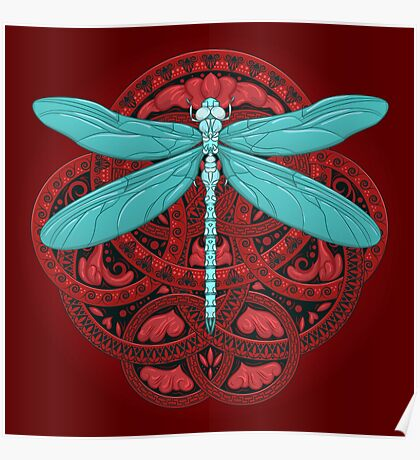 Dragonfly Fire Poster
