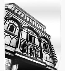 Black and white baptistery Poster