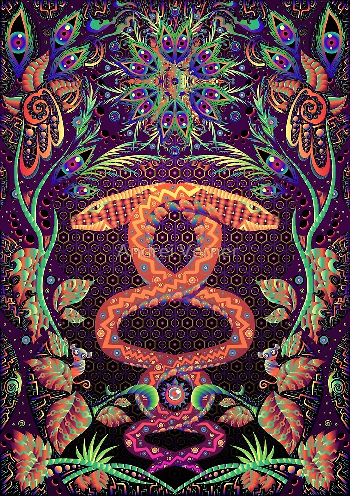 Quot Psychedelic Ayahuasca Snake Spirit Quot By Andrei Verner