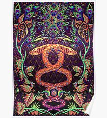 Psychedelic Ayahuasca snake spirit Poster