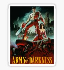 army of darkness poster Sticker