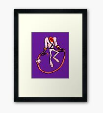 Earthworm Jim - Jumpin' Rope Framed Print