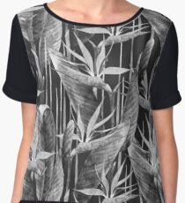 Watercolor strelitzia Women's Chiffon Top