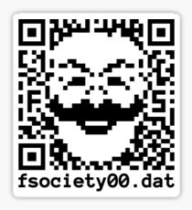fSociety.dat QR Sticker Sticker