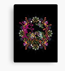 Aztec meeting psychedelic T-shirt Canvas Print
