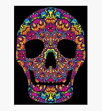 Day of the Dead - Psychedelic Skull 02 Photographic Print