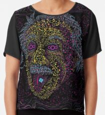 Acid Scientist tongue out psychedelic art poster Chiffon Top