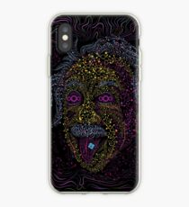 Acid Scientist tongue out psychedelic art poster iPhone Case