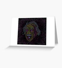 Acid Scientist tongue out psychedelic art poster Greeting Card