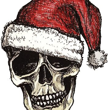 Christmas Skull by MVanHyll
