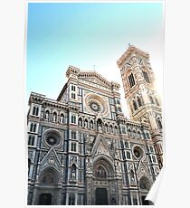 Cathedral of Florence in bright sunshine Poster