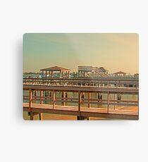 Delightful Docks Metal Print