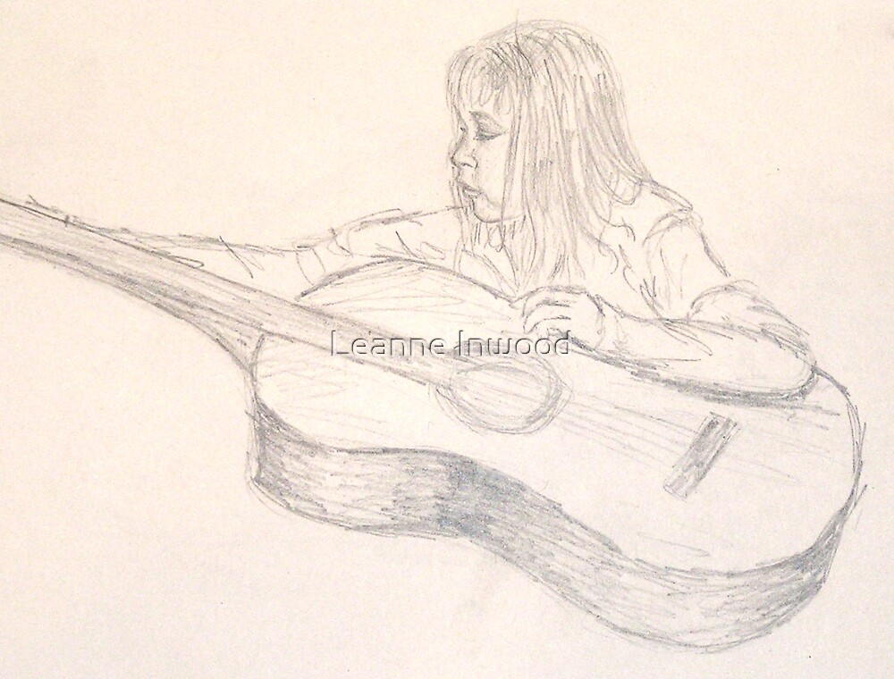 the singing guitar by Leanne Inwood