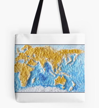 World Map - Recycled Tote Bag