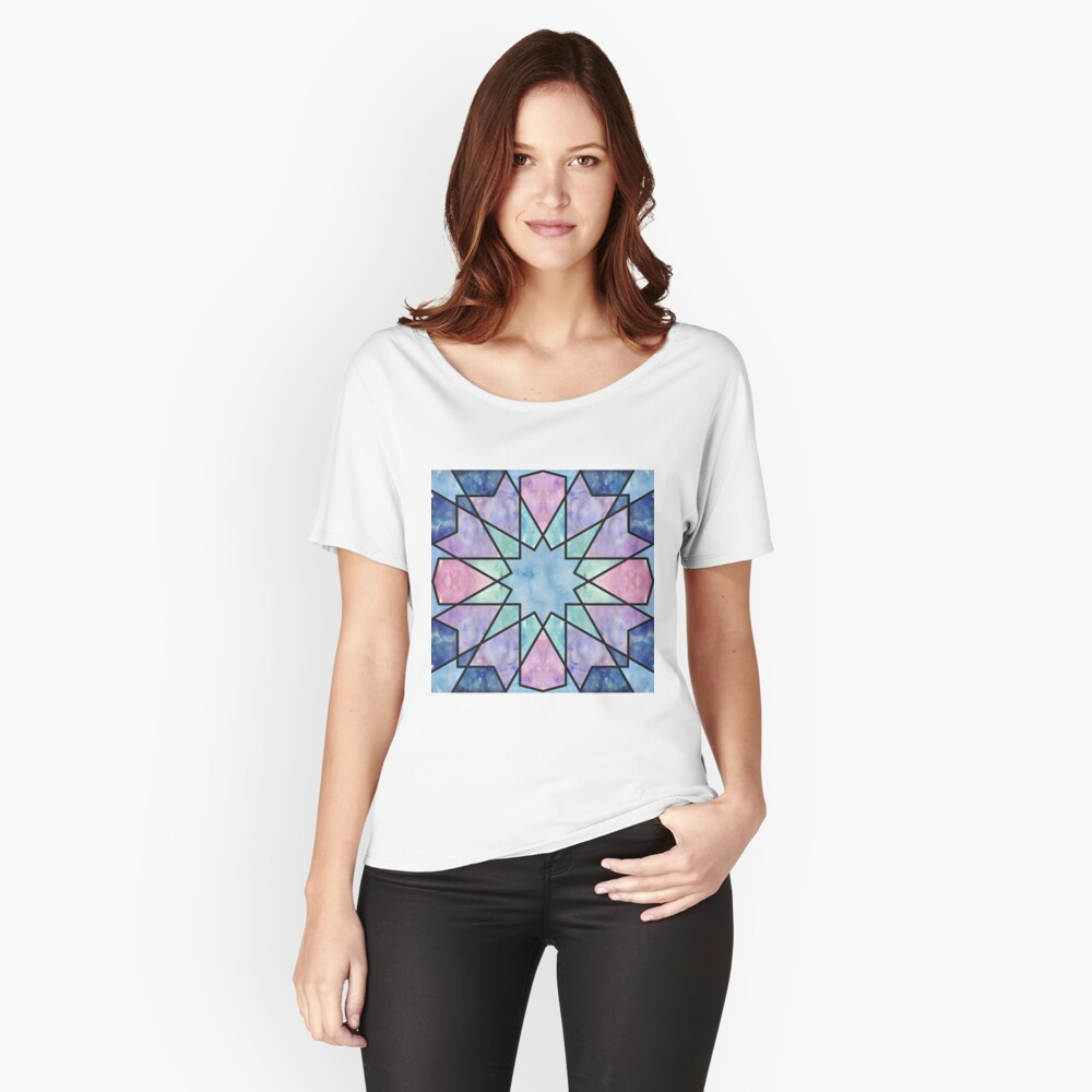 Azulejos de acuarela Camiseta ancha