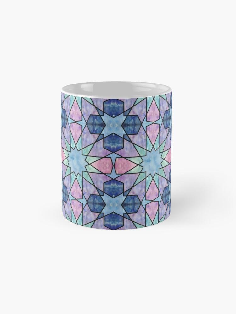 Vista alternativa de Taza clásica Azulejos de acuarela